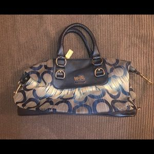 Coach Navy Blue Satchel Bag